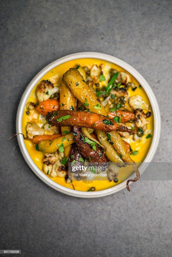 Carota roasted carrot kabocha squash cauliflower caper anchovy at Centrolina