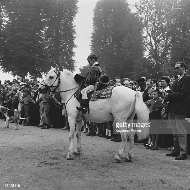 Carouge Castle Hunting Boy And His Horse In Normandy In France During Fifties