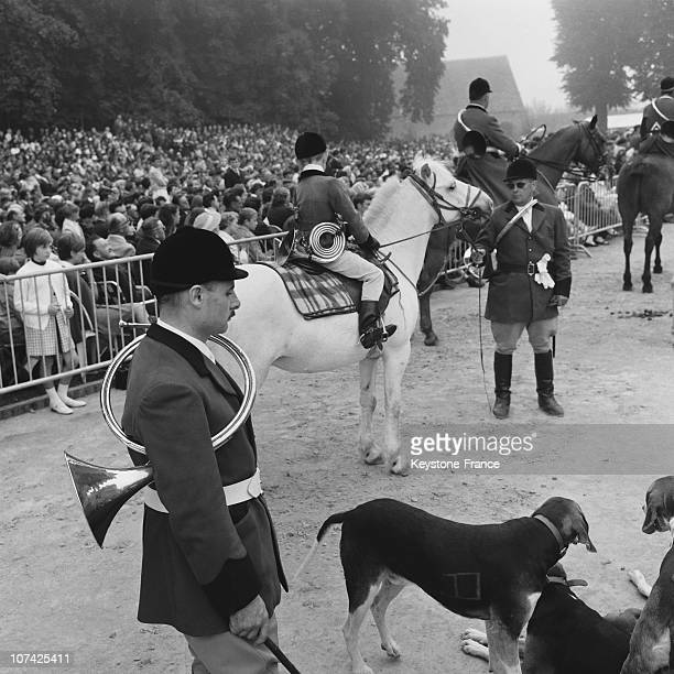 Carouge Castle Hunting Ceremony Of Hunting In Normandy In France During Fifties