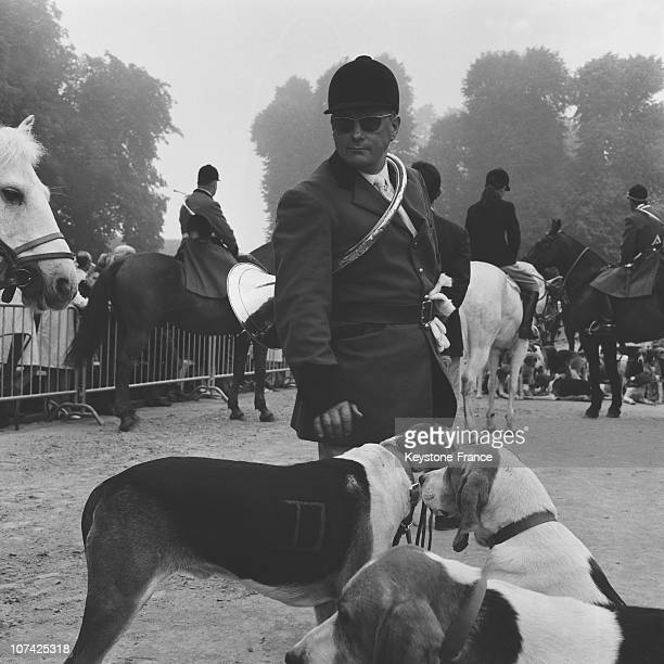 Carouge Castle Hunting Guard And His Dogs In Normandy In France During Fifties