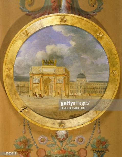 Carousel Arch Paris Wall decoration in the Rambouillet Castle France 19th century