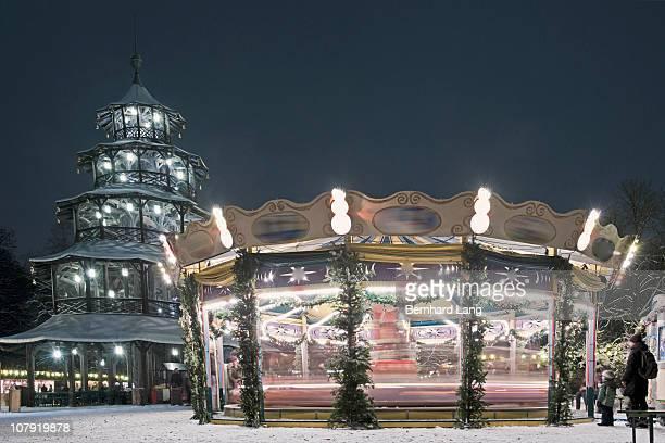 Carousel, Christmas market
