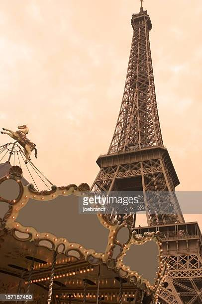 Carousel Horse and Eiffel Tower - Paris, France