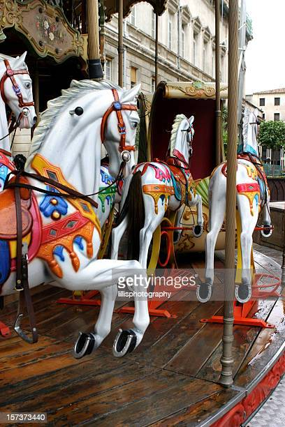 Carousel Horses on Merry Go Round