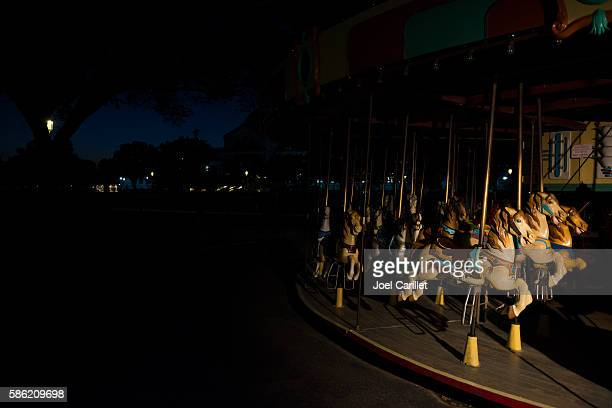 Carousel on the National Mall in Washington DC at night