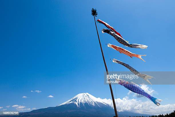 Carp streamers near Mt. Fuji