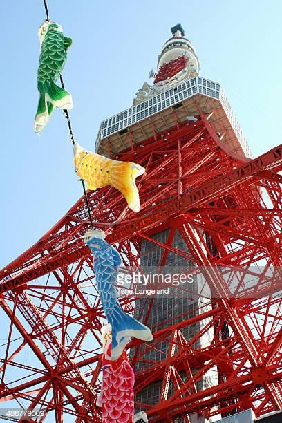 Carp streamers, Tokyo Tower