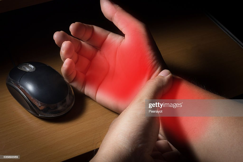 Carpal tunnel syndrome,wrist pain : Stock Photo