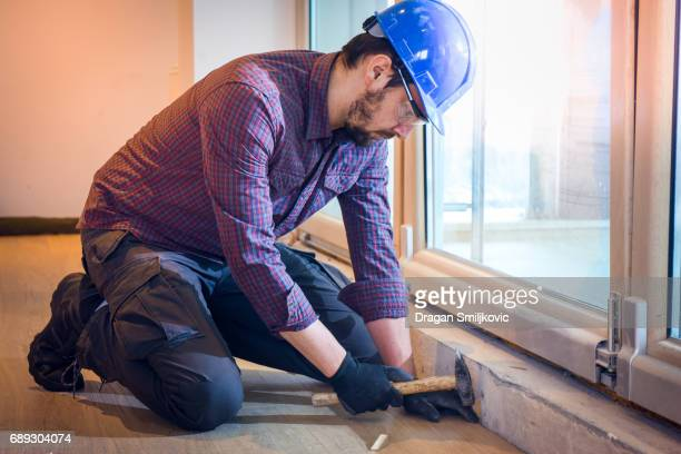 Plancher de bois franc installation charpentier