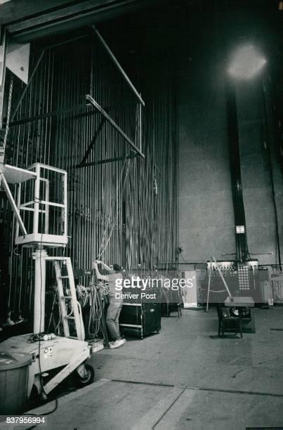 Carpenter Ken Olmstead works Backstage of Auditorium Theatre The Proposed 2400seat center would be home of Denver Symphony Credit Denver Post