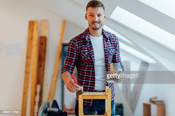 Carpenter wiederherstellen Stuhl.