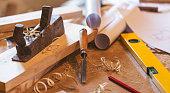 Carpenter Worktools - Stock image