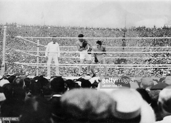 Carpentier GeorgesBoxer FWeltmeisterschaftskampf gegen Jack Dempsey in New York 1921Foto Walter Gircke