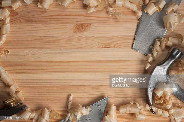 Carpentry on Pine Four Tools