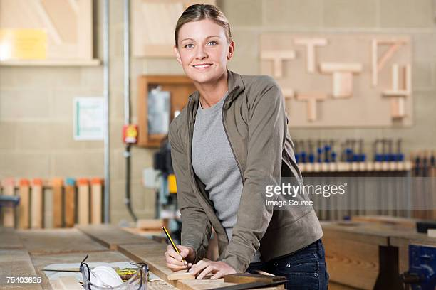 Carpentry student