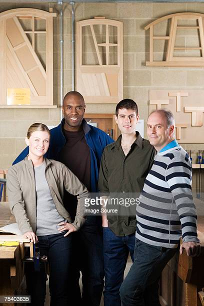 Carpentry students