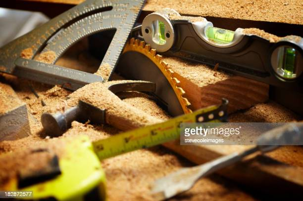 Working In Sawdust ~ Table saw stock photos and pictures getty images