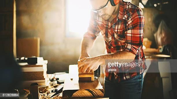 Tischlerarbeit Workshop.
