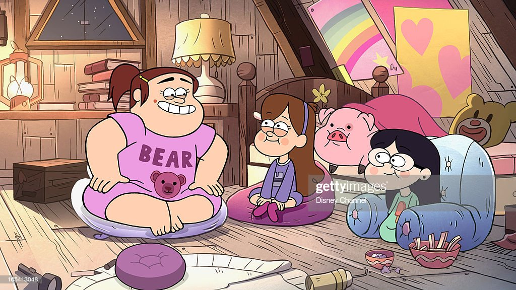 FALLS - 'Carpet Diem' - When Dipper discovers a hidden room inside the Mystery Shack, he is happy to claim it as his own space, but there is one problem - Mabel wants the room too. The duo compete to win the room with a contest that gets even trickier when they learn the room's carpet has electric body swapping properties , in a new episode of 'Gravity Falls,' premiering FRIDAY, APRIL 5 (9:00 - 9:30 p.m., ET/PT) on Disney Channel. GRENDA, MABEL, WADDLES, CANDY