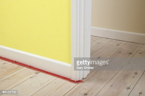 Carpet Gripper Rods Along Edge Of Skirting Board And