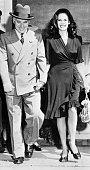 6/17/1943 Carpinteria CA Charlie Chaplin and Oona O' Neill after their wedding