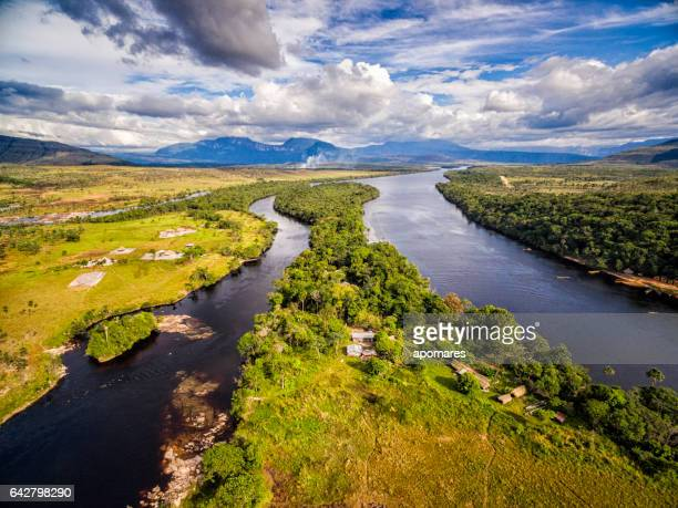 Carrao river aerial view. Canaima National Park, Venezuela