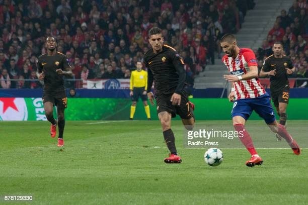 METROPOLITANO MADRID SPAIN Carrasco with the ball during Atletico de Madrid won by 2 to 0 with goals by Griezmann and Gameiro against Roma