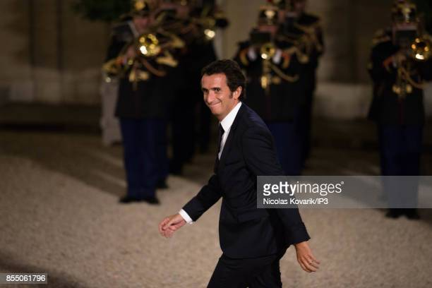 Carrefour CEO Alexandre Bompard attends a State dinner offered by French President Emmanuel Macron in honor with Lebanese President Michel Aoun at...