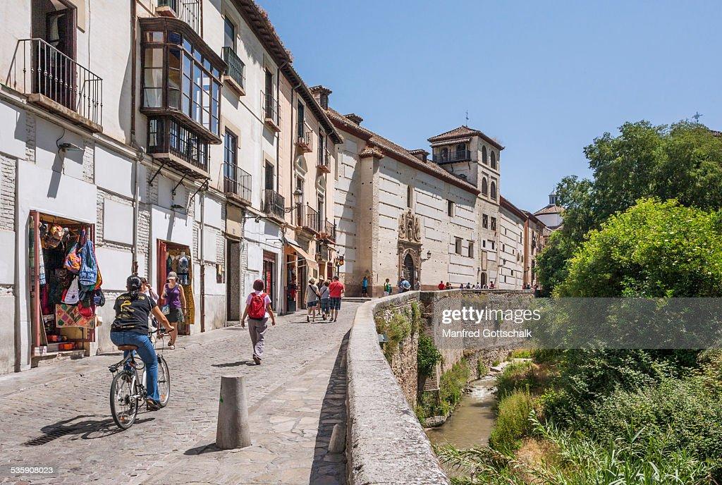 Carrera del Darro Granada : Foto de stock