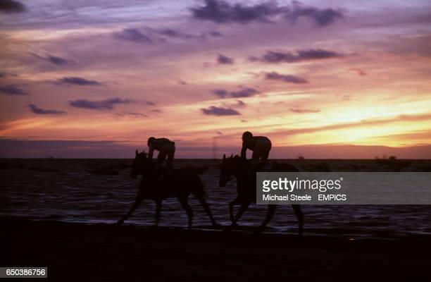 Carreras de Caballos a beach horse race festival is held in Sanlucar de Barrarreda southern Spain every August over three days An 1800m course is...