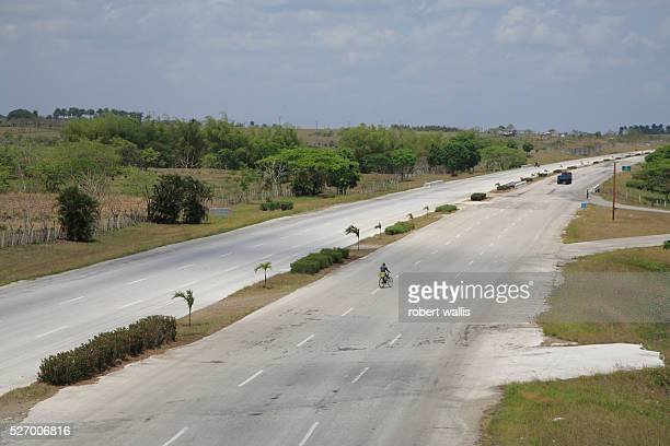 Carretera Central Cuba's main EastWest highway has very little traffic due to the general lack of motorized transport in Cuba public or private |...