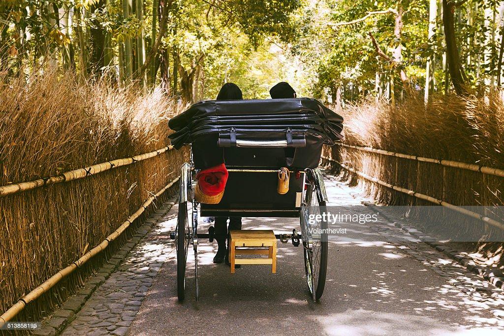 Carriage in The Arashiyama Bamboo Grove, Kyoto : Stock Photo