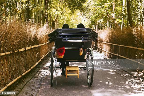 Carriage in The Arashiyama Bamboo Grove, Kyoto