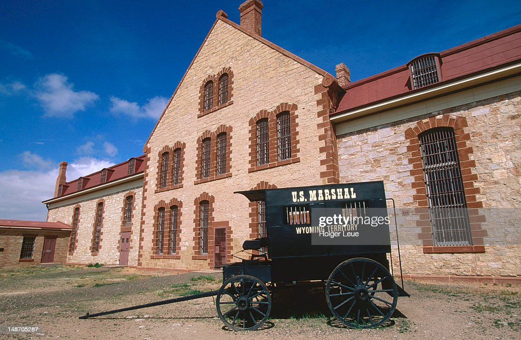 Carriage outside Wyoming Territorial Prison.