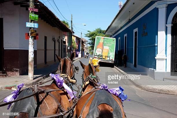 Carriage ride in Granada, Nicaragua