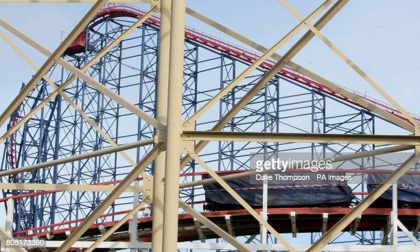 Carriages on the Big Dipper a ride at Blackpool Pleasure Beach where a number of people were injured last night after a collision on the ride