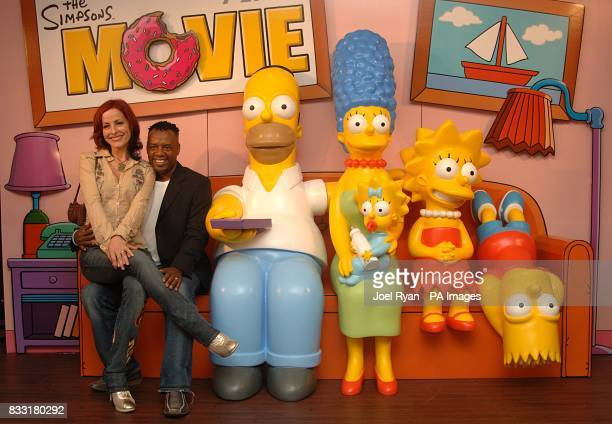 Carrie and David Grant arrive for the UK Premiere of The Simpsons Movie at the Vue Cinema The O2 Peninsula Square London