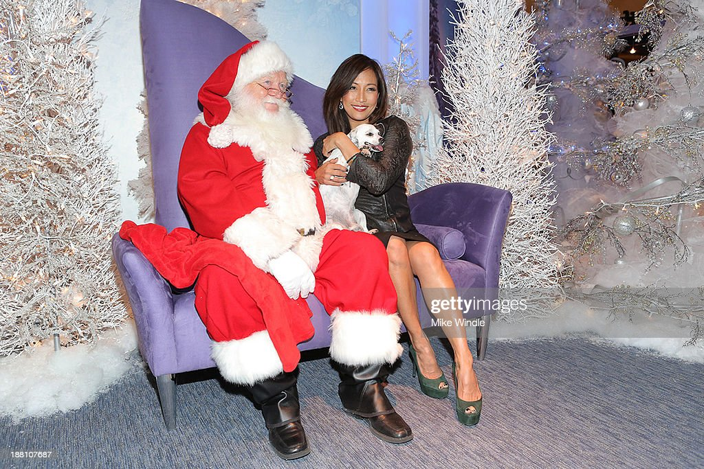 <a gi-track='captionPersonalityLinkClicked' href=/galleries/search?phrase=Carrie+Ann+Inaba&family=editorial&specificpeople=637379 ng-click='$event.stopPropagation()'>Carrie Ann Inaba</a> and her dog Lola attend the Beverly Center's Holiday Pet Portraits Debut at The Beverly Center at The Beverly Center on November 14, 2013 in Los Angeles, California.