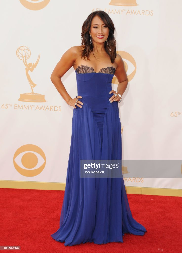 Carrie Ann Inaba arrives at the 65th Annual Primetime Emmy Awards at Nokia Theatre LA Live on September 22 2013 in Los Angeles California