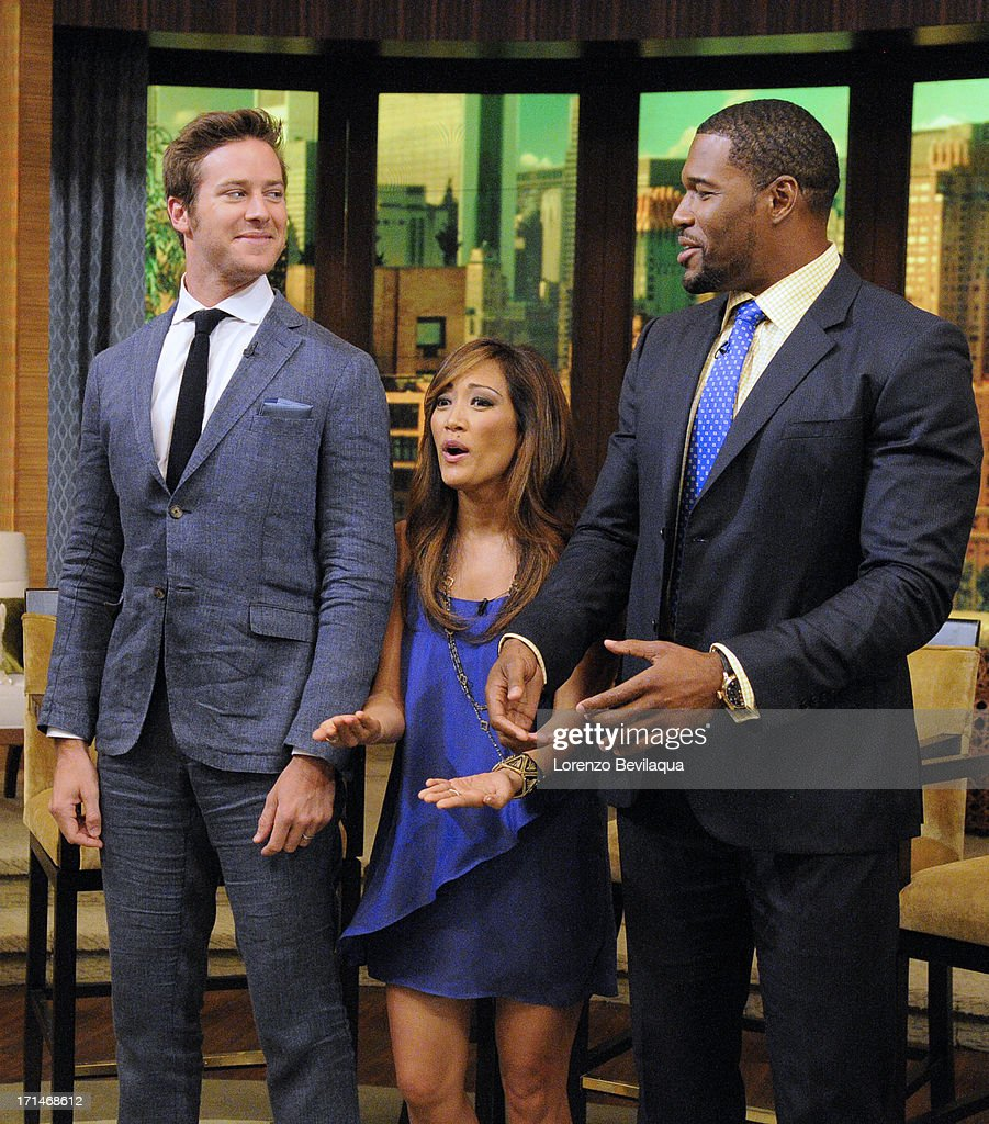 MICHAEL -6/24/13 - Carrie Ann Inaba is Michael's co-host and 'Lone Ranger' star Armie Hammer is a guest on 'LIVE with Kelly and Michael,' distributed by Disney-ABC Domestic Television. STRAHAN