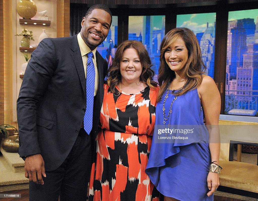 MICHAEL -6/24/13 - Carrie Ann Inaba is Michael's co-host and Melissa McCarthy stops by today on 'LIVE with Kelly and Michael,' distributed by Disney-ABC Domestic Television. INABA