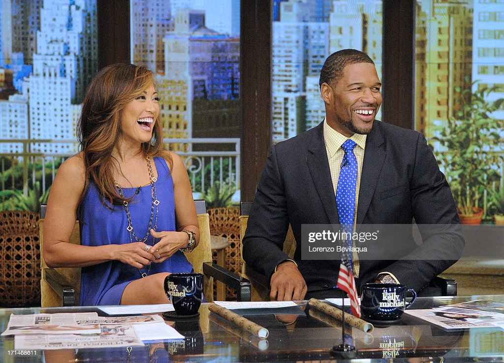 MICHAEL -6/24/13 - Carrie Ann Inaba is Michael's co-host today on 'LIVE with Kelly and Michael,' distributed by Disney-ABC Domestic Television. CARRIE