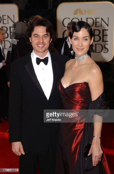 Carrie Ann Moss during The 59th Annual Golden Globe Awards Arrivals at The Beverly Hilton Hotel in Beverly Hills California United States