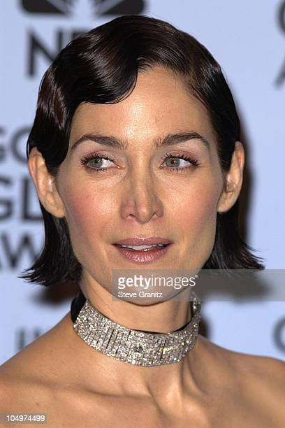 Carrie Ann Moss during The 59th Annual Golden Globe Awards Press Room at Beverly Hilton Hotel in Beverly Hills California United States