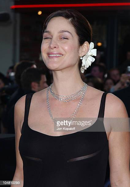 Carrie Anne Moss during 'The Matrix Reloaded' Premiere Arrivals at The Mann Village Theater in Westwood California United States