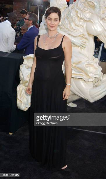 Carrie Anne Moss during 'The Matrix Reloaded' Premiere at Mann Village Theatre in Westwood California United States