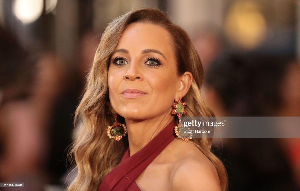 Carrie Bickmore arrives at the 59th Annual Logie Awards at Crown Palladium on April 23, 2017 in Melbourne, Australia.
