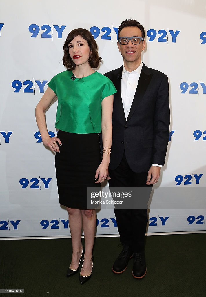 Carrie Brownstein and Fred Armisen attend A Conversation with Fred Armisen and Carrie Brownstein presented by 92nd Street Y at 92nd Street Y on...