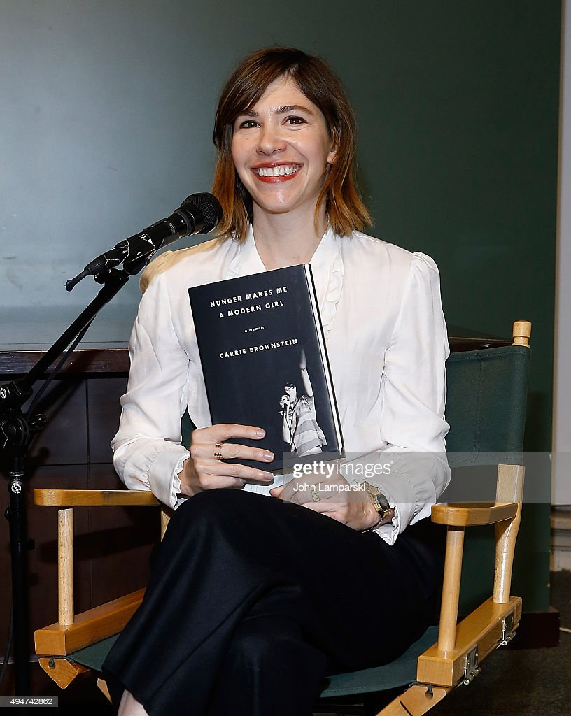Carrie Brownstein in conversation with Gaby Hoffmann at Barnes Noble Union Square on October 28 2015 in New York City