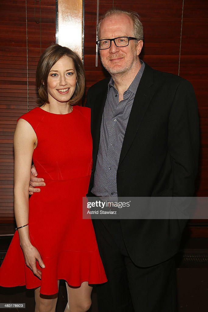 Carrie Coon and <a gi-track='captionPersonalityLinkClicked' href=/galleries/search?phrase=Tracy+Letts&family=editorial&specificpeople=4694707 ng-click='$event.stopPropagation()'>Tracy Letts</a> attend 'The Realistic Joneses' opening night after party at The Redeye Grill on April 6, 2014 in New York City.
